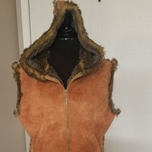 Lord & Taylor fake fur vest